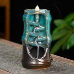 Incense Burner - Bamboo Ceramic Backflow Waterfall Incense Holder