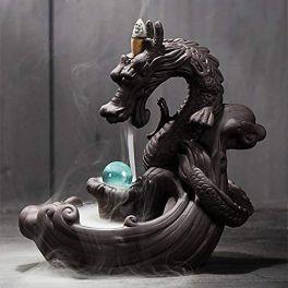 LED Luminous Ball Dragon Incense Waterfall